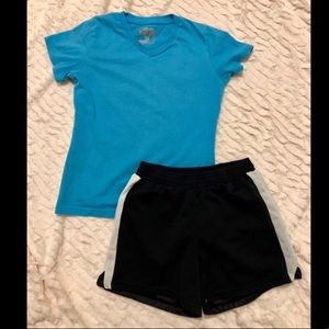 🍁5 for $20🍁 Girl Champion Tee & short outfit set